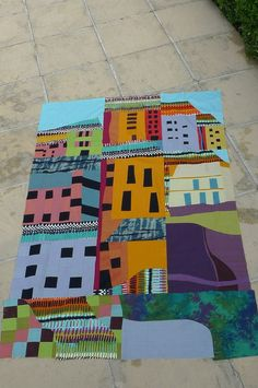 another great interpretation of a house quilt