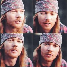 "Axl Rose of Guns N' Roses, during the making of ""estranged"" video, early 90s"