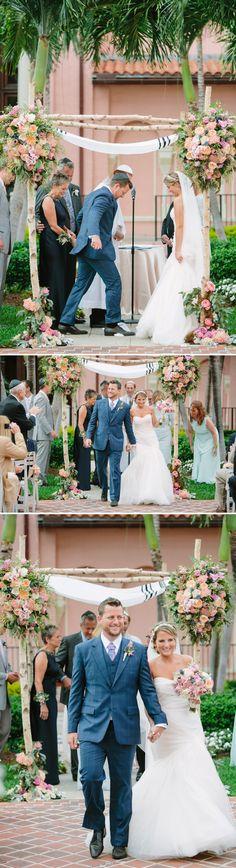 Elegant garden Jewish wedding
