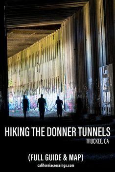 Explore the Donner Pass tunnels in Truckee California using this guide. This combines hiking and urbex street art in the Lake Tahoe area and includes the tunnel history, a full guide and a map. Things to do in Lake Tahoe | Lake Tahoe Hiking | Hiking Lake Tahoe | Train tunnels | California graffiti | Lake Tahoe graffiti | Hikes near Truckee | Donner Pass California Northern California Beaches, Truckee California, California Attractions, California Getaways, California Mountains, California Vacation, California National Parks, Lake Tahoe Hiking, Tour Around The World