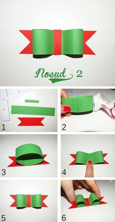 """DIY """"Des noeuds pour vos paquets cadeaux de Noël """" - Étape par étape avec explications Sirop de fraise - Blog mode et lifestyle."""