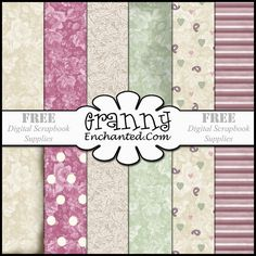 GRANNY ENCHANTED'S BLOG: Free Digital Scrapbook Paper Pack: Shabby Mauve