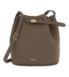 MULBERRY Abbey leather bucket bag. #mulberry #bags #shoulder bags #bucket #suede #