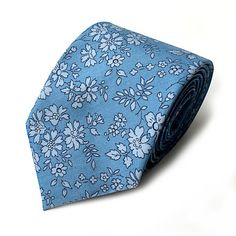 A personal favourite from my Etsy shop https://www.etsy.com/uk/listing/476608929/liberty-capel-blue-floral-tie