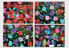 les petites têtes de l'art: Impressions florales réalisées avec une endive