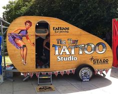 Tiny Tattoo Studio, how cute is this?!?! Retro Camper obsession