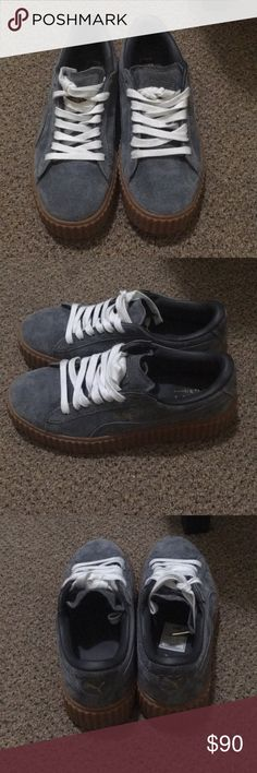 Grey Fenty Pumas Re-poshed (because it's too small for me) Perfect condition 100% authentic Puma Shoes Platforms