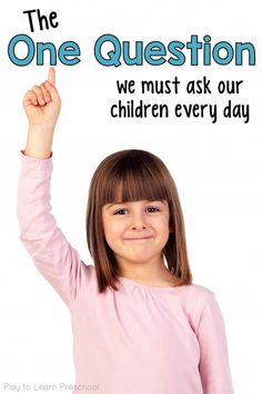 Ask children this ONE important question to foster independence and develop critical problem-solving skills. Do you do this every day? via @PlayToLearnPS