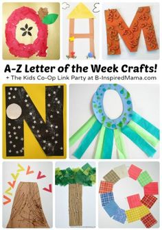 Letter of the Week Crafts [From A to Z!] + The Weekly Kids Co-Op Link Party at B-Inspired Mama