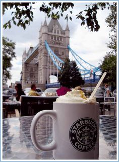 The coffee in London is terrible, learn to enjoy the tea, which is wonderful. With the exchange rate at the time, a cappuccino at Starbucks was at least a hundred dollars. :)