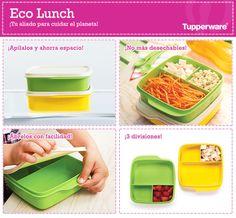 Lleva tu lunch a todas partes con el mejor orden y la seguridad de Tupperware. ¿Qué te parece nuestro Eco Lunch? Kitchen Gadgets, Lunch Boxes, Bolivia, Bento, Tableware, Plastic, Tools, Pretty, Ideas