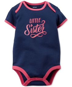 Carter's Baby Girls' Little Sister Bodysuit
