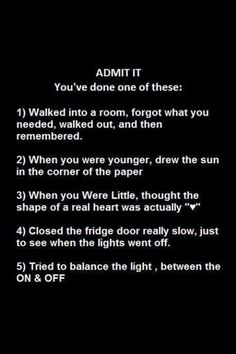 ADMIT IT   ANSWER THE QUESTIONS .LOL Funny Texts, Funny Jokes, Funny Riddles, It's Funny, Memes Humor, Funny Troll, Funny Shit, Funny Images, Funny Pictures