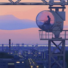 Eastern Bloc, a set of illustrations by Marcin Wolski portraying the bleakness of eastern socialist times. Marcin Wolski is a young graphic designer who Bg Design, Graphic Design, Crane Drawing, Pretty Drawings, Sanya, Animation Background, Fantasy Artwork, Digital Illustration, Illustration Styles