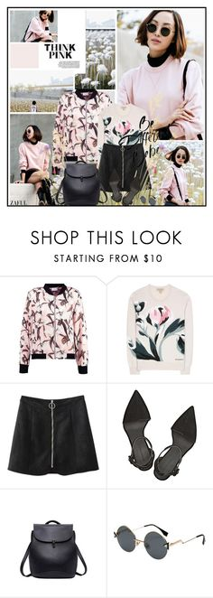 """Think Pink"" by katik27 ❤ liked on Polyvore featuring Oris, Burberry and Alexander Wang"