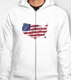 American Flag Hoody - $38.00