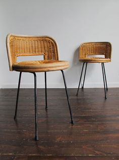 Cane and Steel Stools