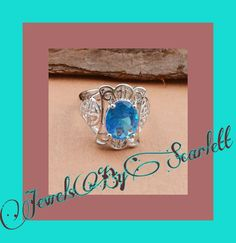 Aquamarine Cocktail Ring  Intricately designed 925 silver with an amazing aquamarine stone. Perfect for a night on the town or a special event. #party #night #silver #aquamarine #intricate #beautiful | Shop this product here: http://spreesy.com/JewelsByScarlett/30 | Shop all of our products at http://spreesy.com/JewelsByScarlett    | Pinterest selling powered by Spreesy.com