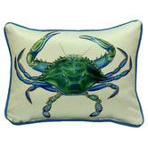 Found it at Wayfair - Coastal Male Crab Indoor/Outdoor Throw Pillow