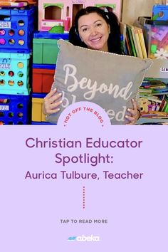 Just as her Instagram account name suggests, preschool children come to 'Play & Learn' with Ms. Aurica. Having taught preschool through high school, she reveals what inspired her to become a teacher and shares some of the lessons her students taught her! Becoming A Teacher, Christian School, Student Teaching, Instagram Accounts, Ms, How To Become, High School, Preschool, Students
