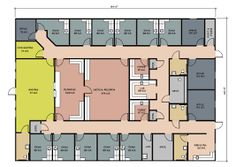 Office floor plan office floor and floor plans on pinterest for Physical therapy office layout