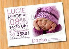 Baby- & Geburtskarten - Babykarten ♥ Geburtskarten ♥ Dankeskarten Geburt - ein Designerstück von Ausgefallene-Fotokarten bei DaWanda