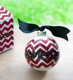 I'm making some personalized chevron ornaments this year! Shopping for blanks- tomorrow!