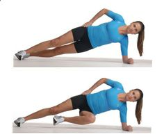 Great for love handles! Do 2 sets of 6 reps each side...these are so hard they must work .