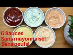 5 Sauces sandwich et trempettes sans mayonnaise et sans oeufs! / 5 No egg No mayonnaise sauces - YouTube Dip Recipes, Sauce Recipes, Indian Food Recipes, Chicken Recipes, How To Make Mayonnaise, Cooking Tips, Cooking Recipes, Homemade Salsa, Ramadan Recipes