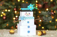 Snowman Gift Box - Fleurette Bloom files - Cut on the Silhouette Cameo - http://www.ilovedoingallthingscrafty.com