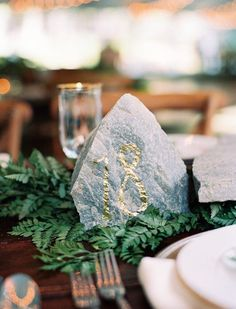 wedding table number idea; photo: Leo Patrone Photography