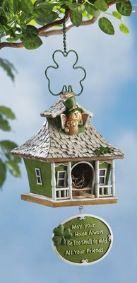 May your house always be too small to hold all your friends -- Friends Are Welcome Irish Birdhouse