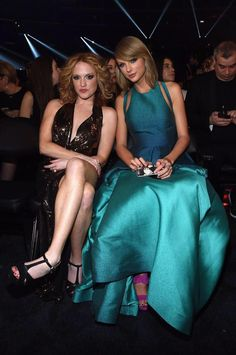 Taylor and Abigail in their seats at the Grammys!