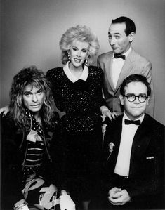 1986 David Lee Roth, Joan Rivers, Paul Reubens (Pee Wee) and Elton John together on Joan's show Pee Wee's Playhouse, Paul Reubens, Pee Wee Herman, David Lee Roth, Weird Dreams, Joan Rivers, Rock Legends, Van Halen, Rock And Roll