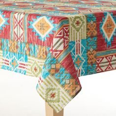 Celebrate Local Life Together Southwest Patch Tablecloth, Multicolor