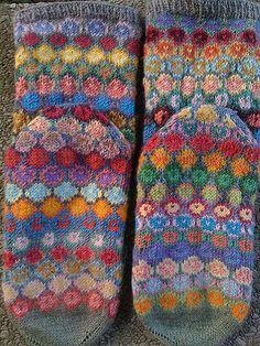 """Knitting Patterns Socks Kaffe Fassett& """"Turkish Fusion"""" socks file this under """"orgasm"""" Crochet Socks, Knitting Socks, Hand Knitting, Knit Crochet, Knitted Slippers, Knit Socks, Knitting Charts, Knitting Patterns, Crochet Patterns"""