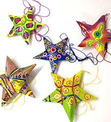 papier mache stars from ptimoun $6.75 Hand crafted kids decor|children's room decor