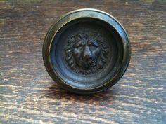 Antique English Lion Face Door Knob by EnglishShop on Etsy, $68.00