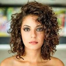 Image result for curly hairstyles corkscrew short
