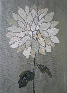 Dahlia -- Original 8x10 Flower Painting $60