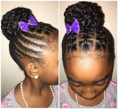 Very pretty . 60 Braids for Kids: 60 Braid Styles for Girls - Part 39 Baby Girl Hairstyles. Back to school hairstyles black hair, natural hair, Lil Girl Hairstyles, Natural Hairstyles For Kids, Kids Braided Hairstyles, My Hairstyle, Black Hairstyle, Hairstyle Ideas, Formal Hairstyles, Braided Updo, Creative Hairstyles