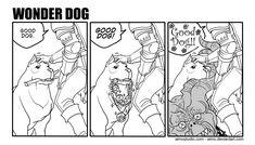 Wonder Dog by aimo.deviantart.com on @deviantART