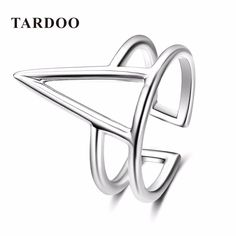 Tardoo Fashion Ge...  Click To Order  http://jere-miah-jewelry.myshopify.com/products/tardoo-fashion-genuine-925-sterling-silver-rings-for-women-triangle-punk-sport-style-adjustable-cuff-rings-fine-jewelry?utm_campaign=social_autopilot&utm_source=pin&utm_medium=pin We Ship Worldwide!