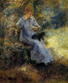 """""""Woman with a Black Dog"""" by Pierre-Auguste Renoir ・ Completion Date: 1874 ・ Style: Impressionism ・ Period: Association with Impressionists ・ Genre: genre painting ・ Technique: oil ・ Material: canvas ・ Gallery: Private Collection Pierre Auguste Renoir, Jean Renoir, Manet, French Impressionist Painters, Impressionist Paintings, Claude Monet, August Renoir, Renoir Paintings, Paul Cézanne"""