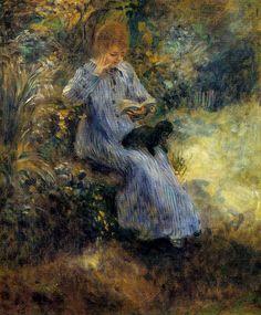 Pierre Auguste Renoir - Woman with a black dog 1874