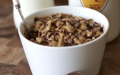 Reese's Cookie Batter Oatmeal Healthy Breakfast Breads, Healthy Breakfasts, Healthy Meals, Healthy Eating, Healthy Recipes, Peanut Butter Roll, Peanut Butter Oatmeal, Chocolate Oatmeal, Making Oatmeal