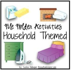 Work on sorting, non-identifcal matching, discrimination, function, and feature - all with a life skills twist! Each file folder task addresses different areas of the house and the items utilized in that area! by theautismhelper.com