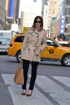 trench coat. shoes.