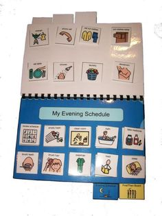 Autism Daily Schedule PECS Book with over 200 by adapted4autism
