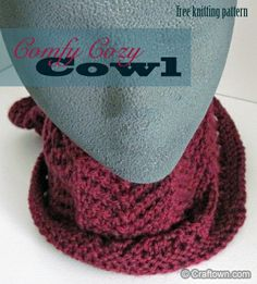 Free Knitting Pattern - Comfy Cozy Cowl